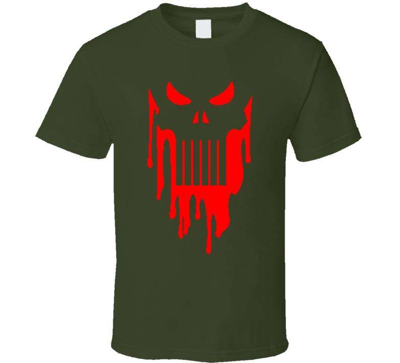 bloody pubhiser skull T Shirt