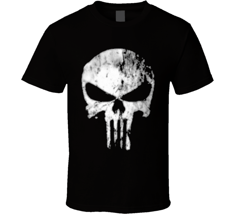 Skatter skull the punisher T Shirt