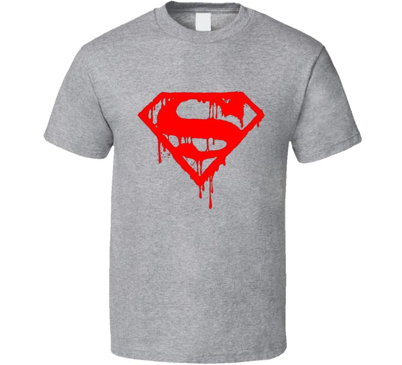 bloody supermen super hero logo T Shirt