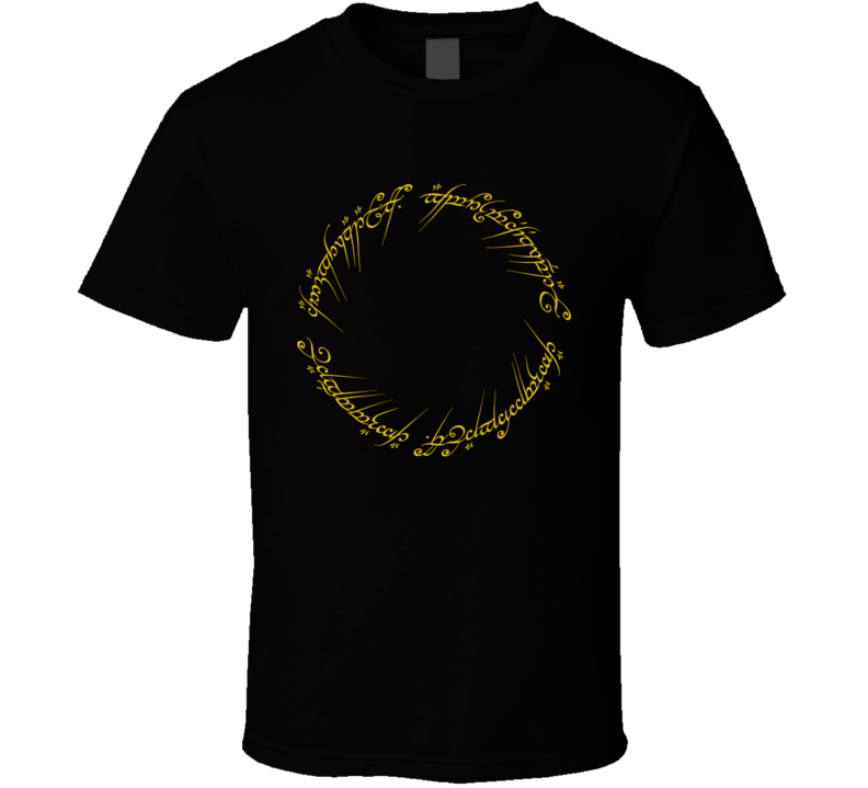 One Ring Tolkien Lord of the ring T Shirt