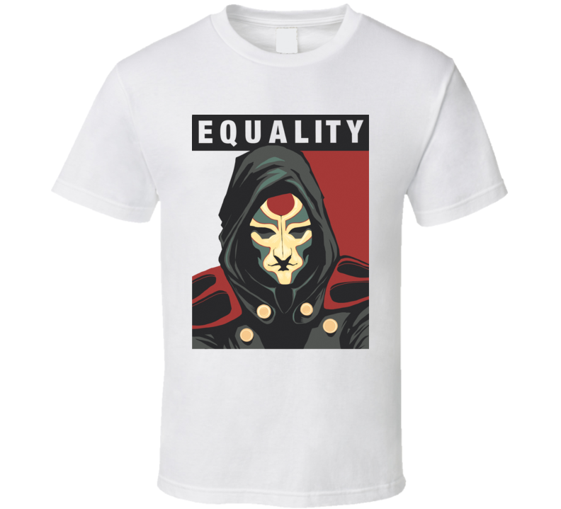 amon for presidentn banders are allowed  Avatar korra Fight for equality with revolutionary T Shirt