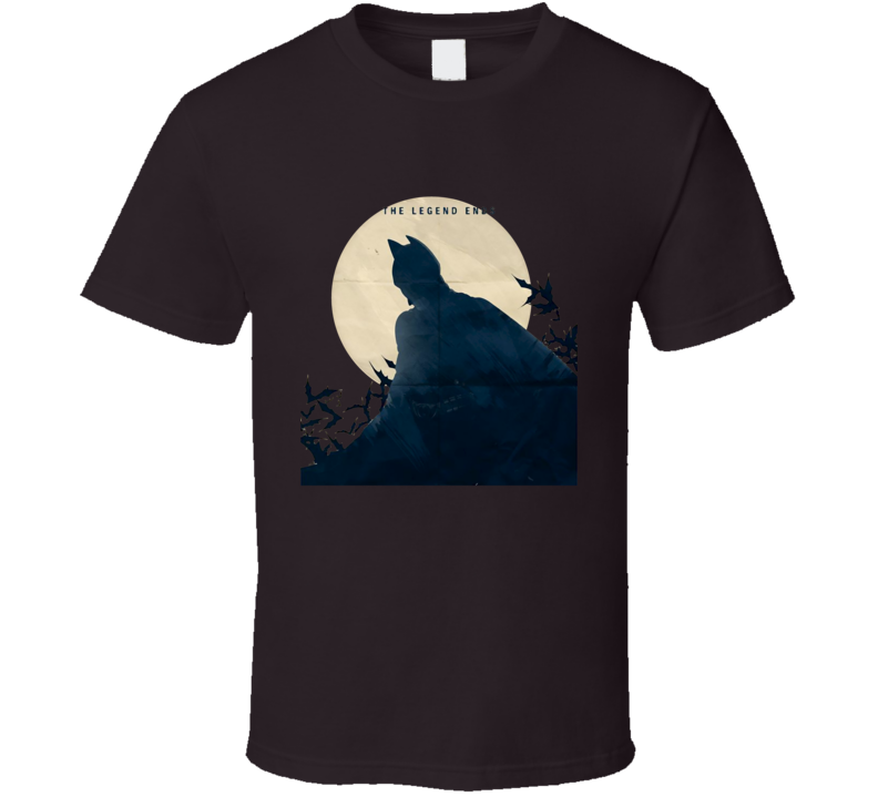 Dark Knight The legend End Batman bat over the moon shadow T Shirt