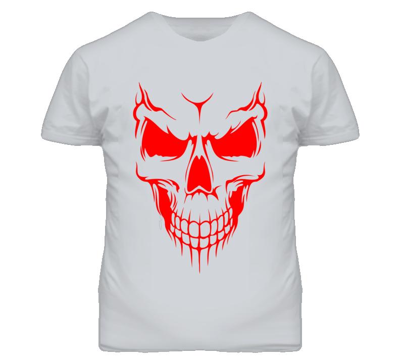 Demon evil red demonic skull  T Shirt