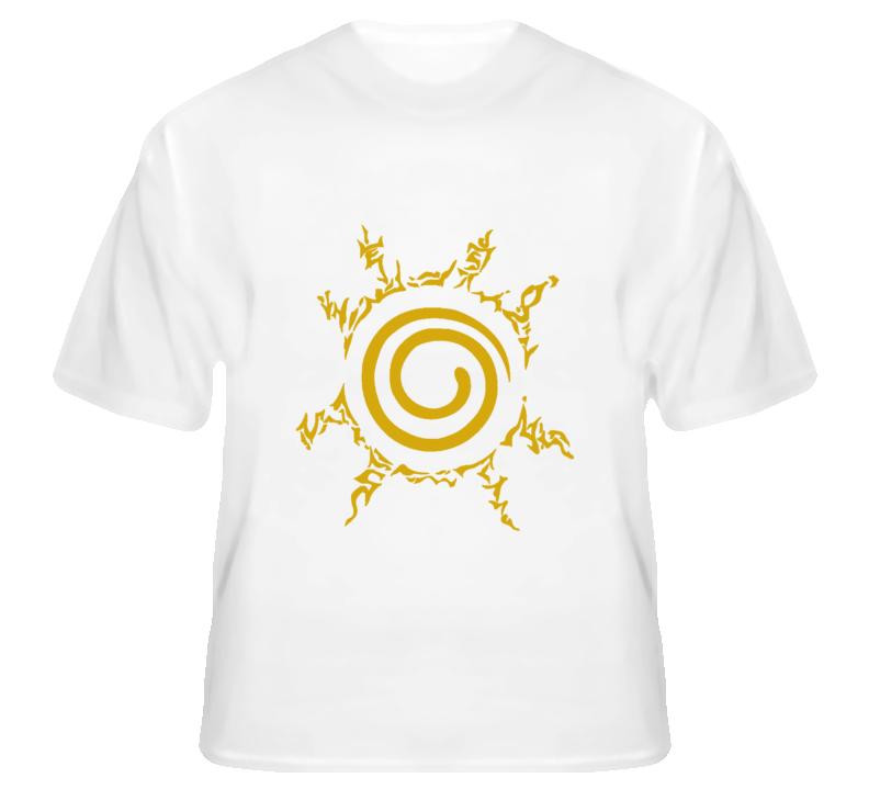 Naruto chest yellow seal kurama nine tails demon fox kyuubi shippuden anime manga T Shirt