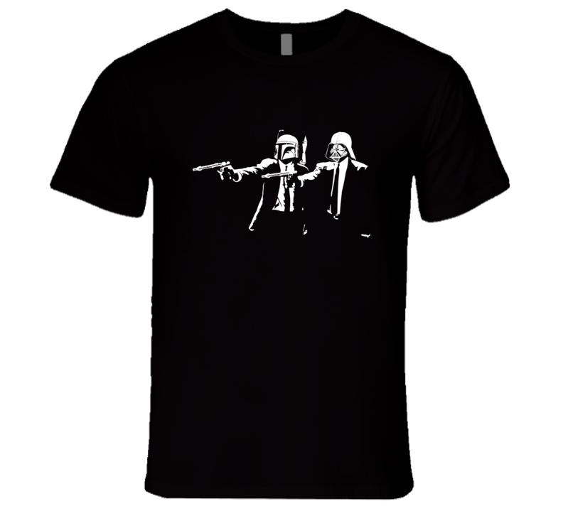 Pulp Fiction with Boba Fett and Darth Vader parody T Shirt
