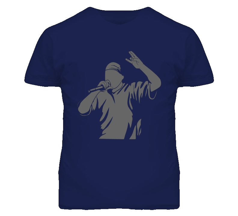 Rapper singing with microphone T Shirt