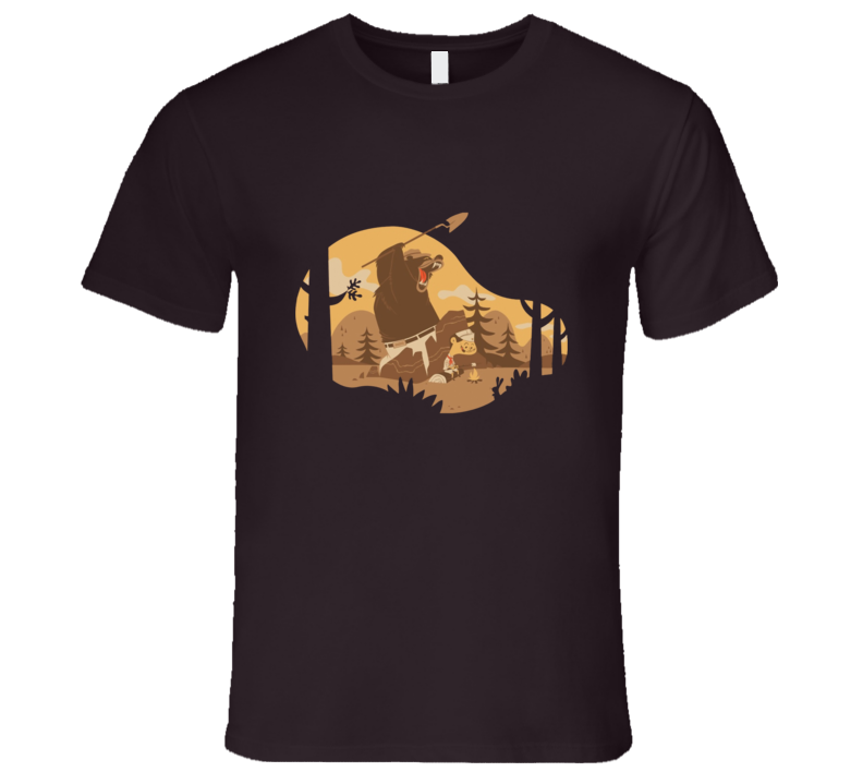 camp on woods funny art T Shirt