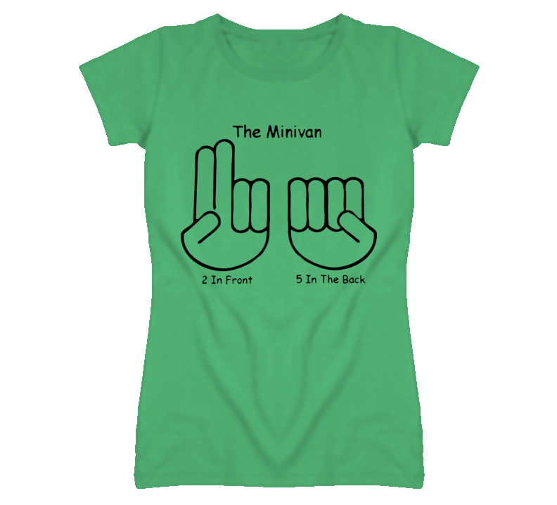 The minivan hand sign two in front five in the back T Shirt