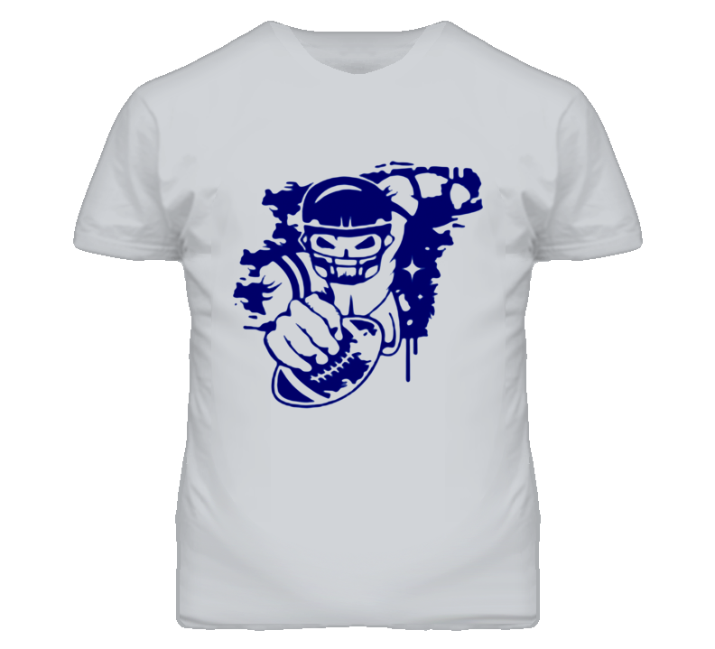 a football player with a football helmet and ball in the graffiti style T Shirt