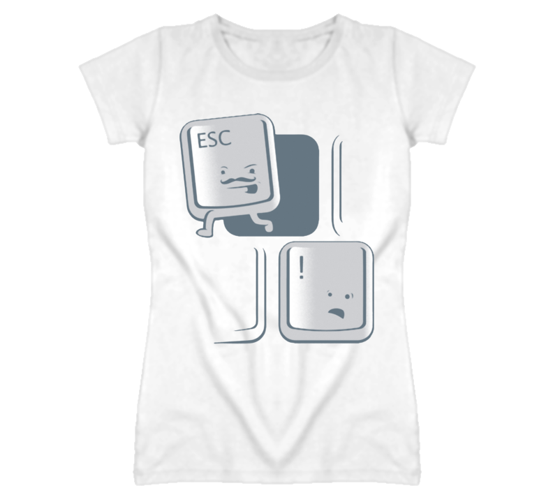 Keyboard computer button esc key Escaping funny T Shirt