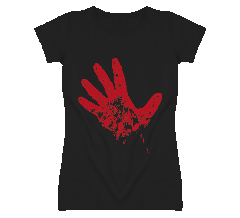 Bloody red hand rise from dead T Shirt