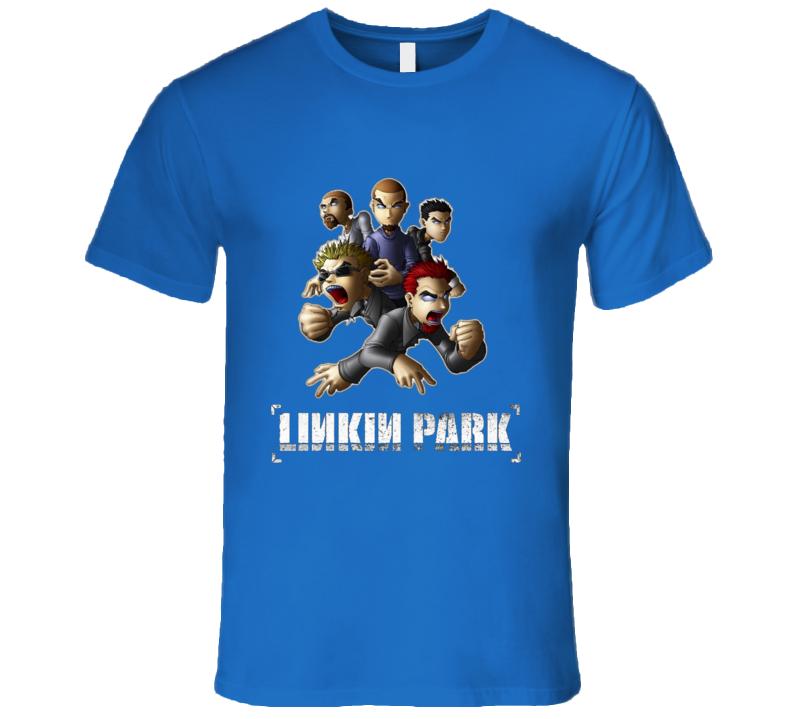 Linkink park member cartoon T Shirt