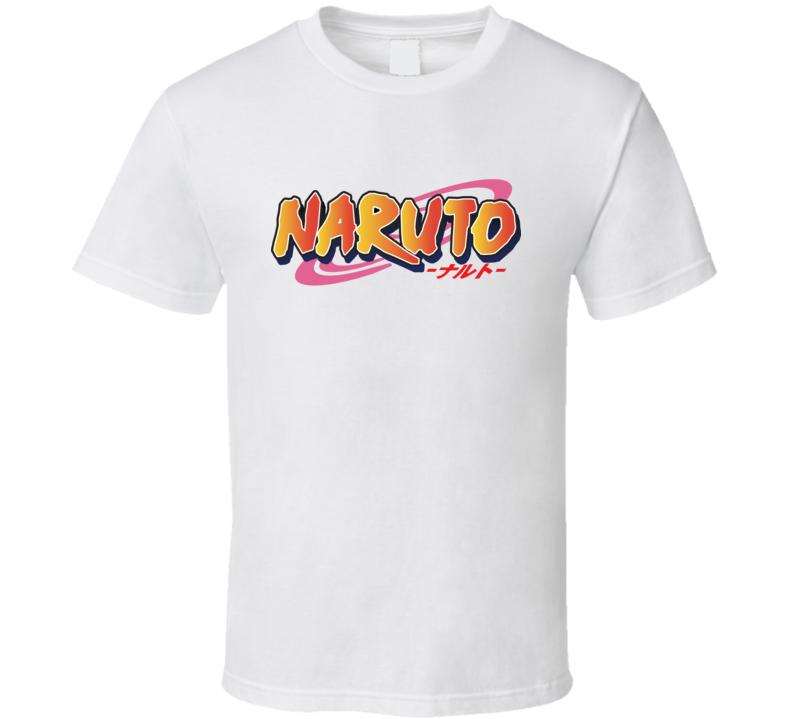 Naruto text logo shippuden anime manga T Shirt