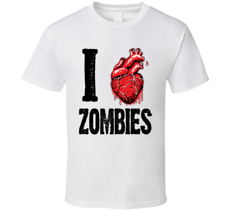 I heart Zombies - Living dead Creature lover  T Shirt
