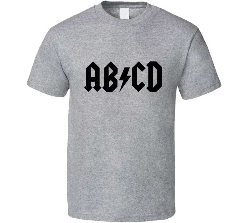 ab cd parody ac-dc black text  T Shirt