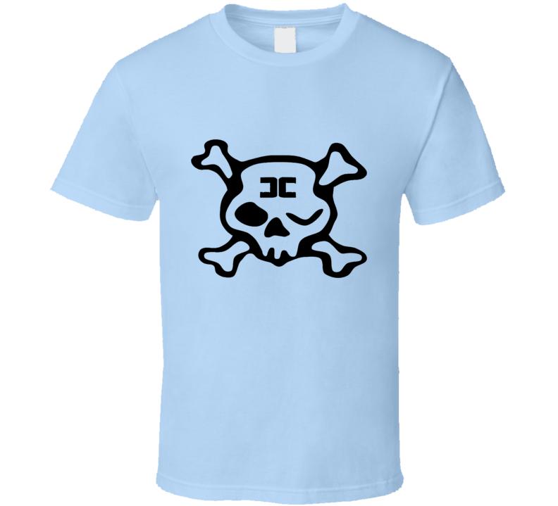 Combichrist Skull crosbones jolly roger black Logo  T Shirt