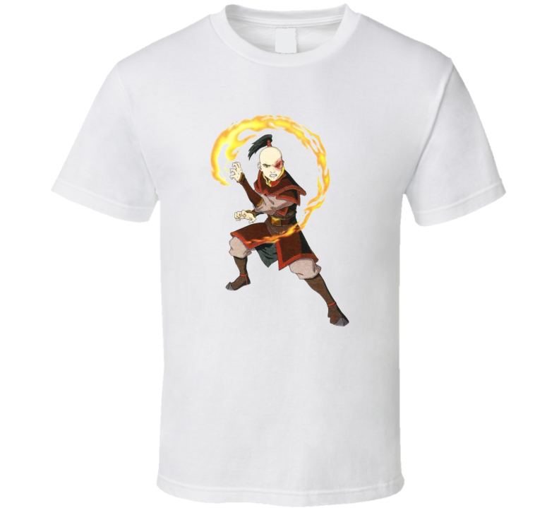 avatar The Last Airbender legend of Aang Fire nation Banished prince Zuko T Shirt