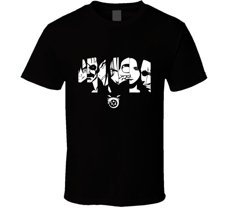Fullmetal Alchemist Seven sins homunculus envy gluttony greed lust pride sloth wrath T Shirt