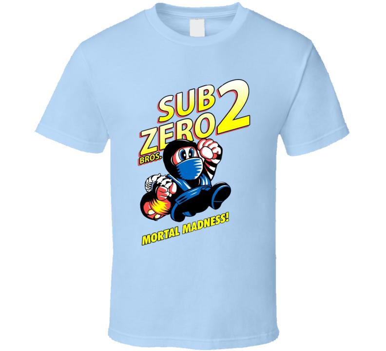 Mario Mortal Madness combat subzero bros funny parody T Shirt