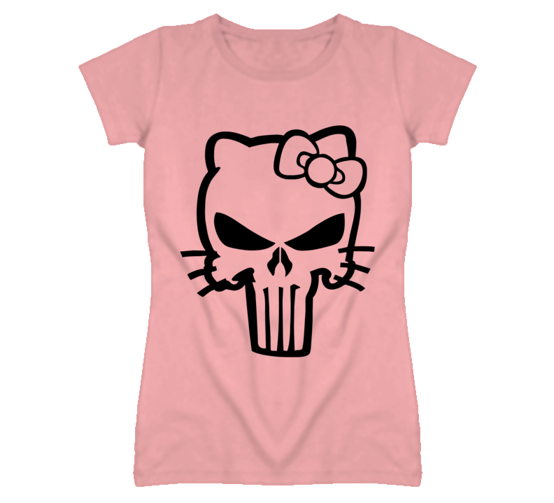 Punisher skull hello kitty bross funny parody T Shirt