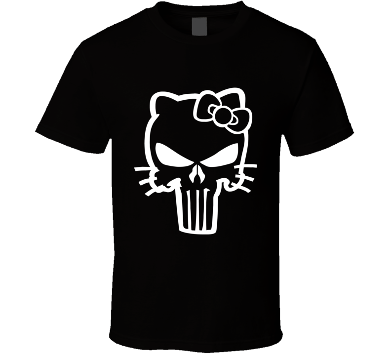 Hello kitty punisher skull parody T Shirt
