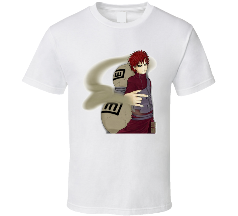 Gaara of the Sand Waterfall from Naruto Shippuden Anime Manga T Shirt