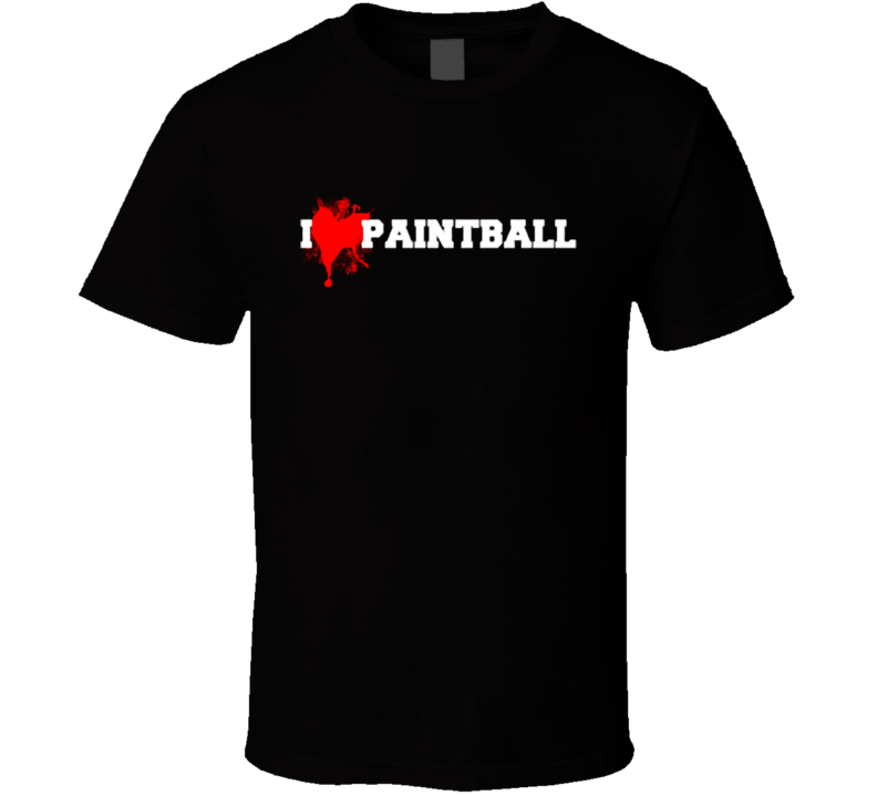 I heart Paintball T Shirt