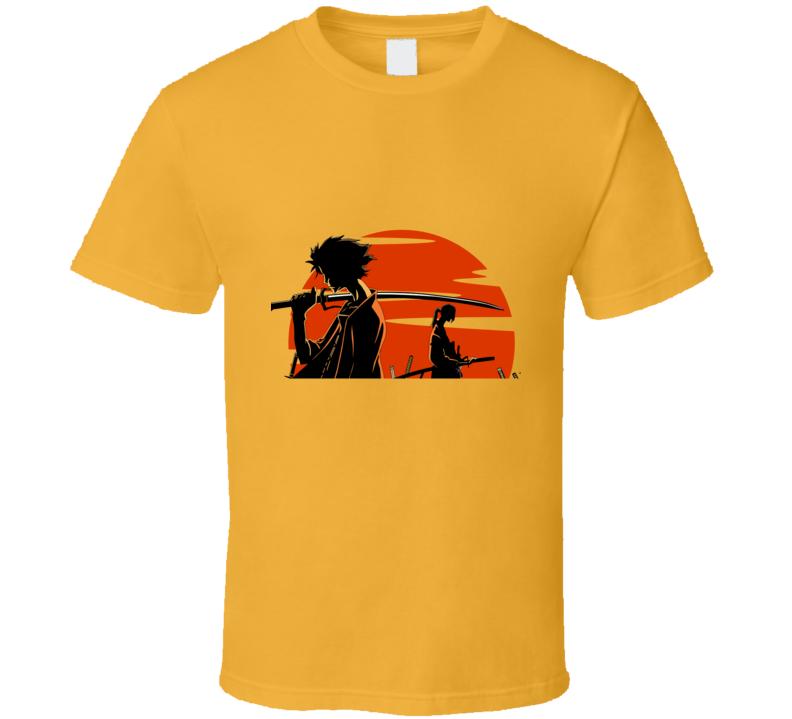 Mugen And Jin over the sun Samurai champloo anime manga T Shirt