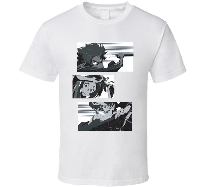 Champloo in action Mugen Fuu and Jin Samurai mix anime manga T Shirt