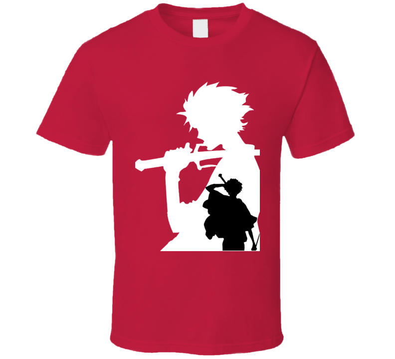 Mugen Shadow black and white samurai champloo anime manga T Shirt