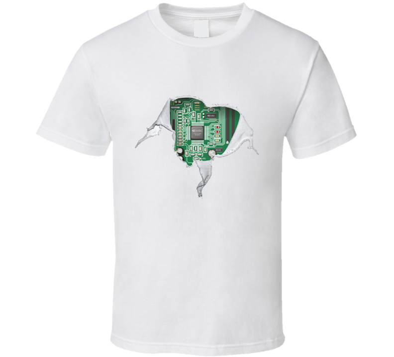 Geek heart Motherboard computer componets funy T Shirt