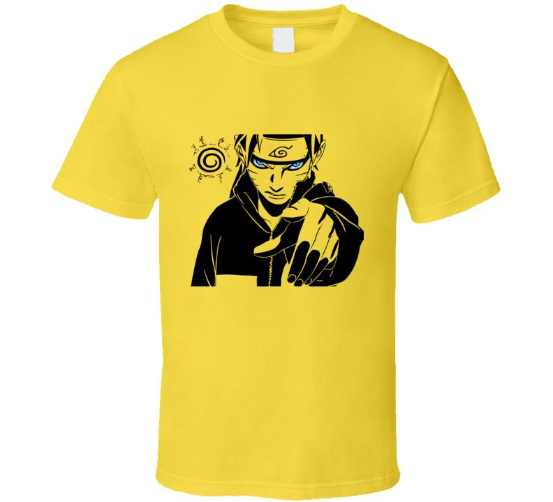 You - uzumaki pointing finger kurama seal naruto shippuden anime manga T Shirt