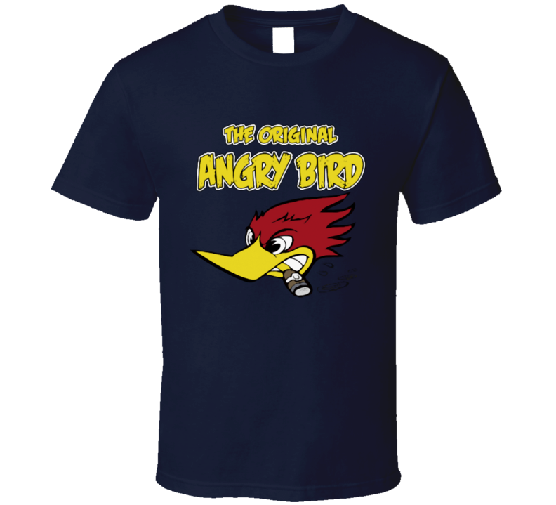 wild Woody woodpecker the original angry bird funny T Shirt