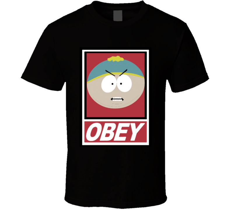 Obey South Park Cartman funny T Shirt