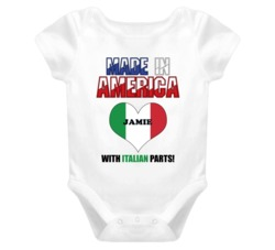 Jamie Made in the USA Italian Parts Funny Baby One Piece
