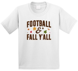 Football And Fall Y'all Spots Season Fan Kids T Shirt