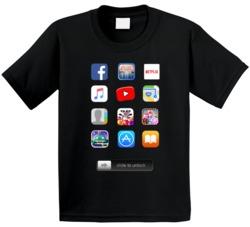 Ipad Screen Apps Costume Kids T Shirt