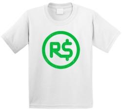 Roblox Robux Money Gamer Online Social Network Game Gaming App Icon Logo Kids T Shirt