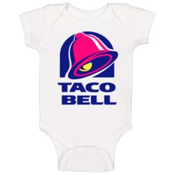 Taco Bell Logo Baby One Piece