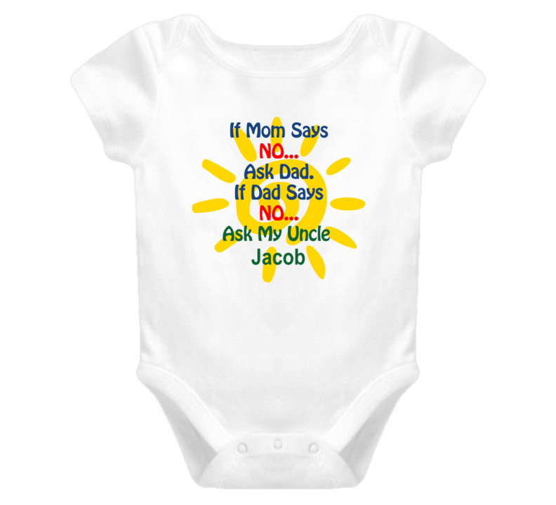 Jacob Ask Uncle Funny Baby One Piece Bodysuit Baby One Piece