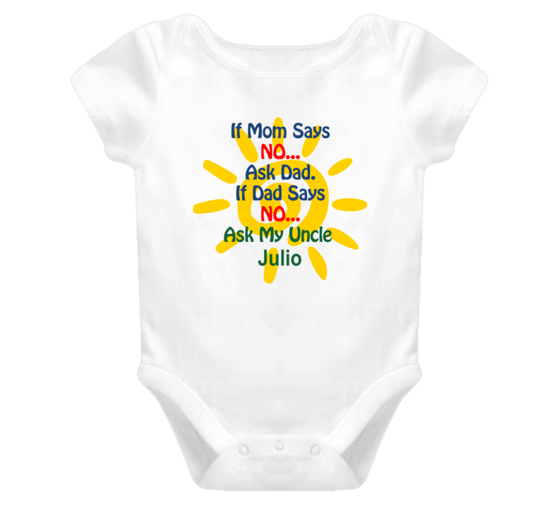 Julio Ask Uncle Funny Baby One Piece Bodysuit Baby One Piece