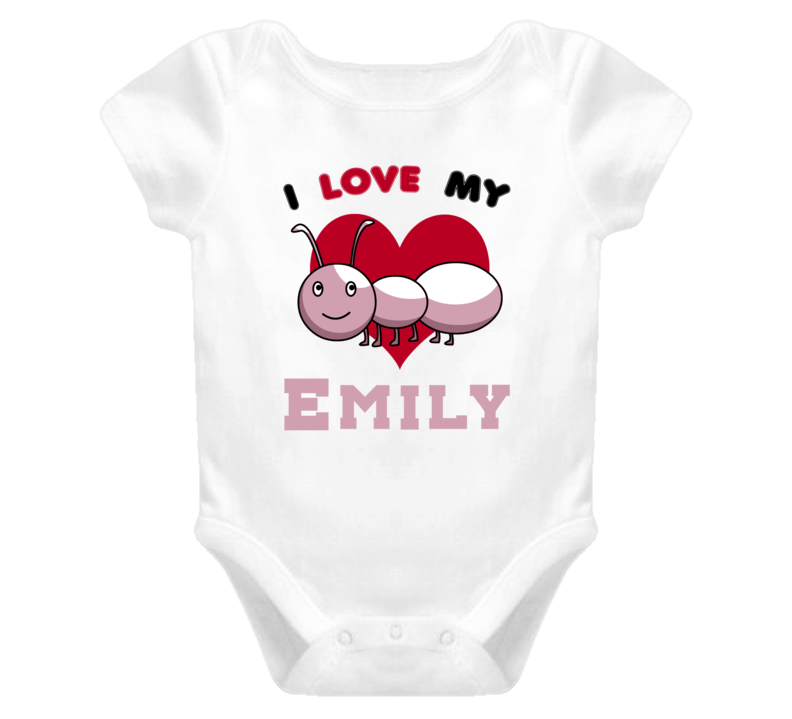 I Love My Aunt Emily Cute Funny Baby One Piece Bodysuit Baby One Piece