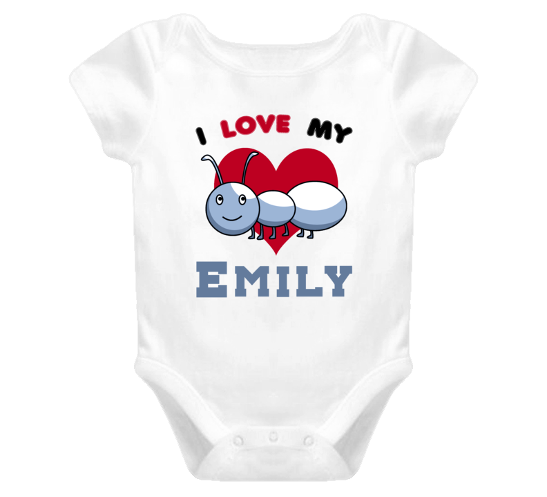 I Love My Aunt Emily Newborn Funny Baby One Piece Bodysuit Baby One Piece