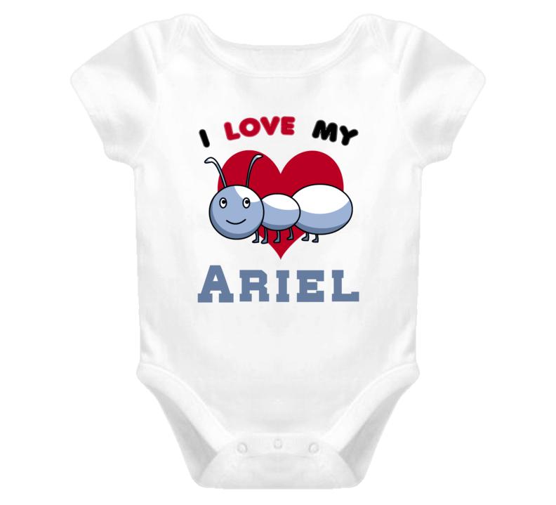 I Love My Aunt Ariel Newborn Funny Baby One Piece Bodysuit Baby One Piece
