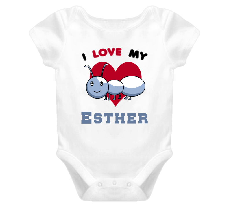 I Love My Aunt Esther Newborn Funny Baby One Piece Bodysuit Baby One Piece