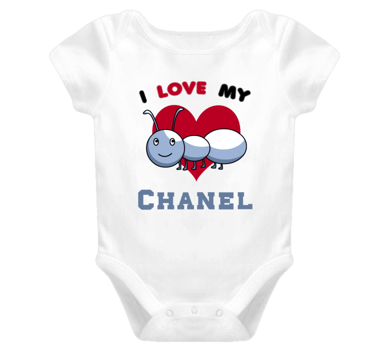 I Love My Aunt Chanel Newborn Funny Baby One Piece Bodysuit Baby One Piece