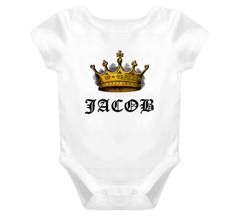 Jacob Made King Royalty Funny Baby One Piece