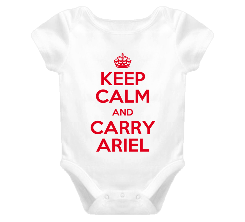 Ariel Keep Calm and Carry On Baby One Piece