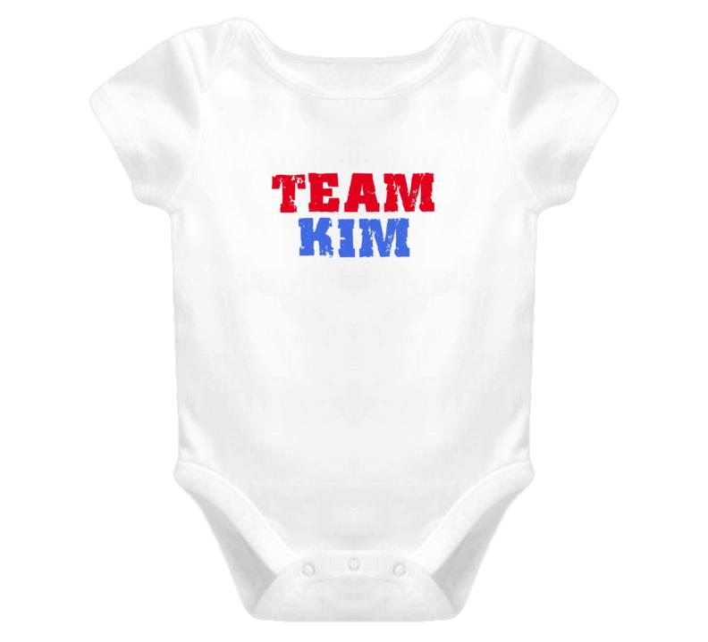 Team Kim Last Name Baby One Piece Newborn
