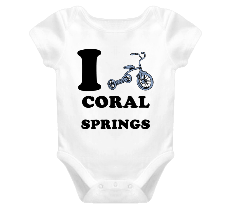 Coral Springs I Love Tricycle Baby One Piece Bodysuit